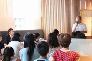 山田代表理事の開会の挨拶